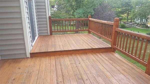 new composite wood deck