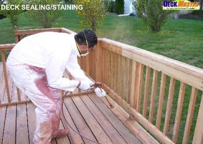 deck sealing or staining