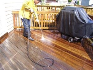 deck cleaning PressureLess cleaning system