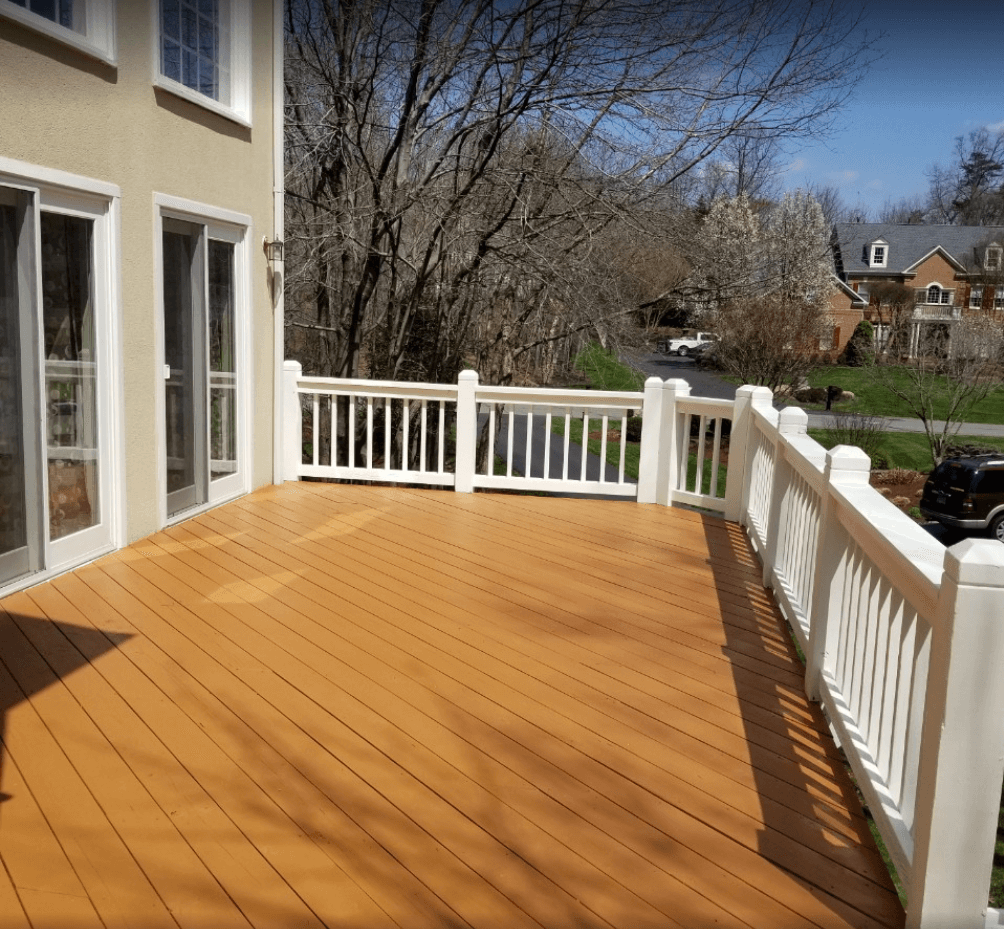 deck builder Reston after deck pressure washing